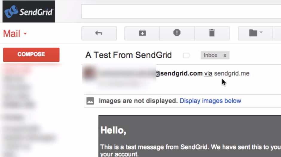 Gmailでの「経由」表示サンプル