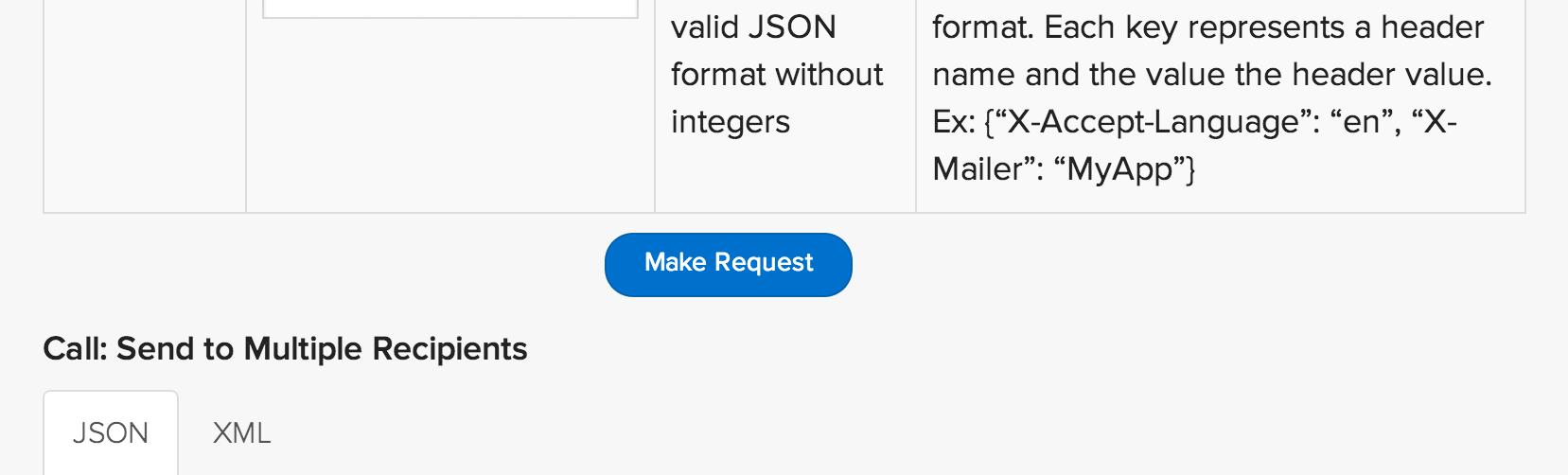 Make Request をクリック