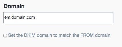 DKIMの設定画面