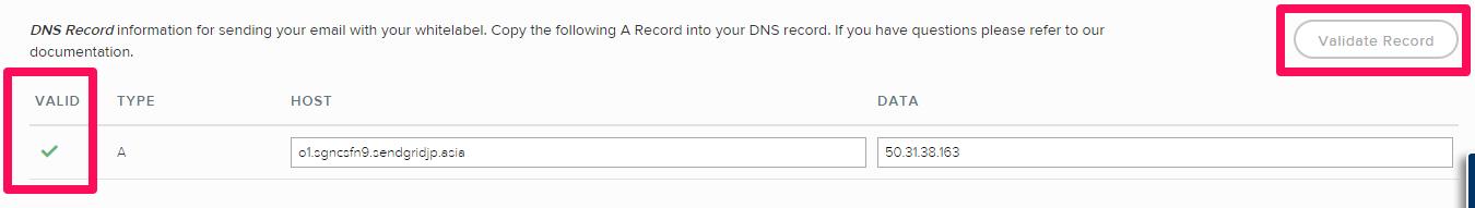 DNSレコードを確認する