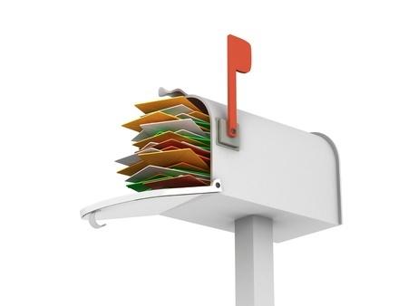 メールが溜まった受信ボックス