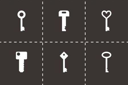 様々な鍵のアイコン