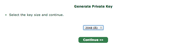 Generate Private Key