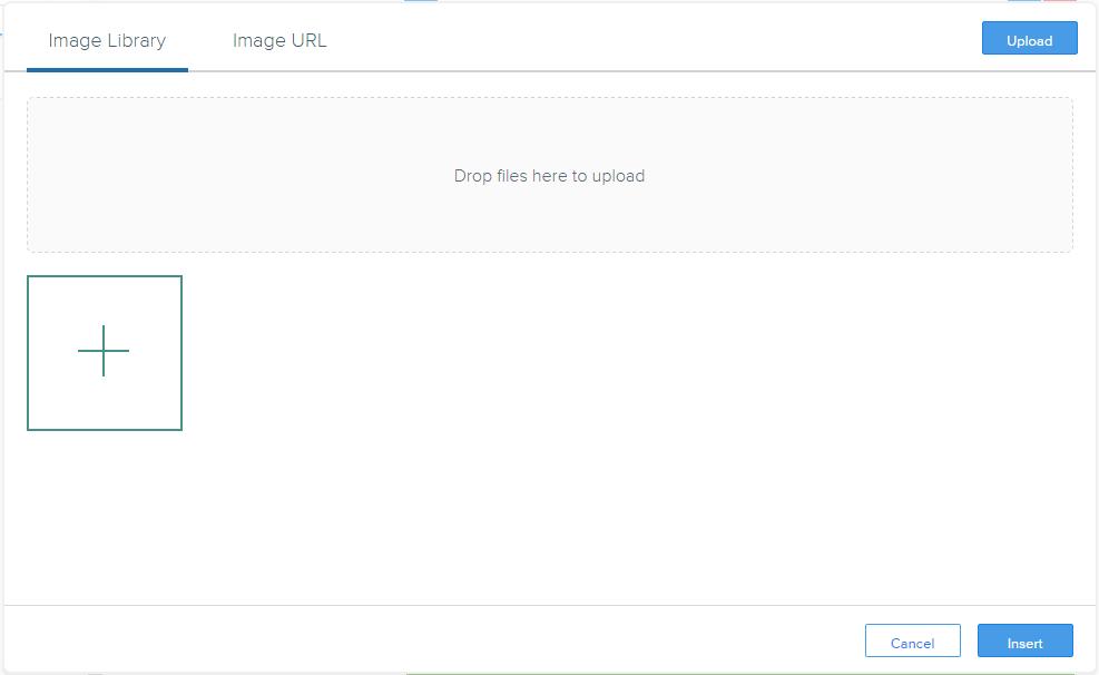 画像ファイルのアップロードダイアログ
