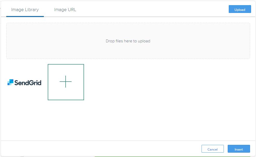 配置画像選択後のアップロードダイアログ