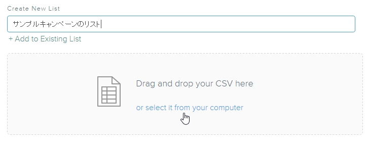 Drag and drop your CSV here