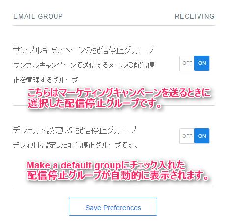 Make a default groupにチェックをした場合