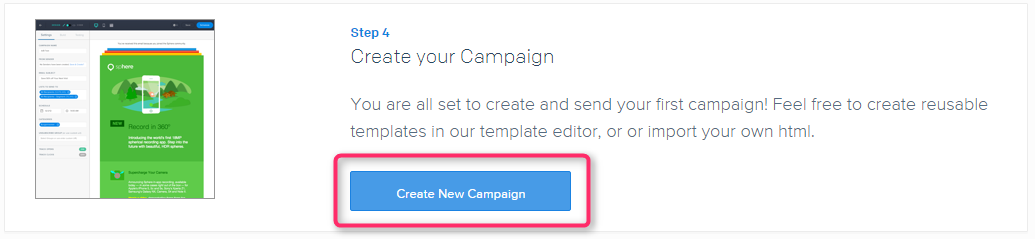 Step4 Create your Campaign