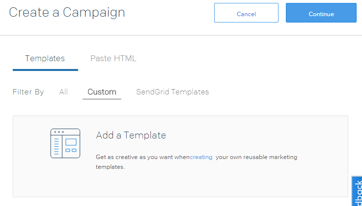 Create a Campaignパネル
