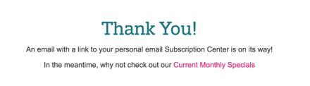 メールアドレス入力完了画面