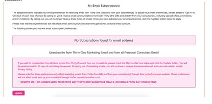 購読しているメールの内容確認画面