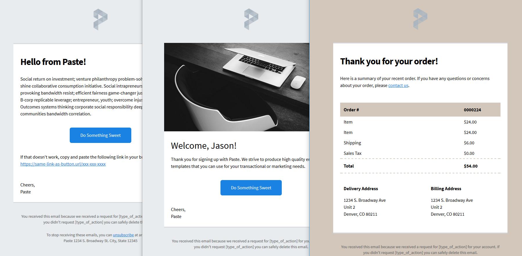 SendGridのオープンソースメールテンプレート「Paste」について