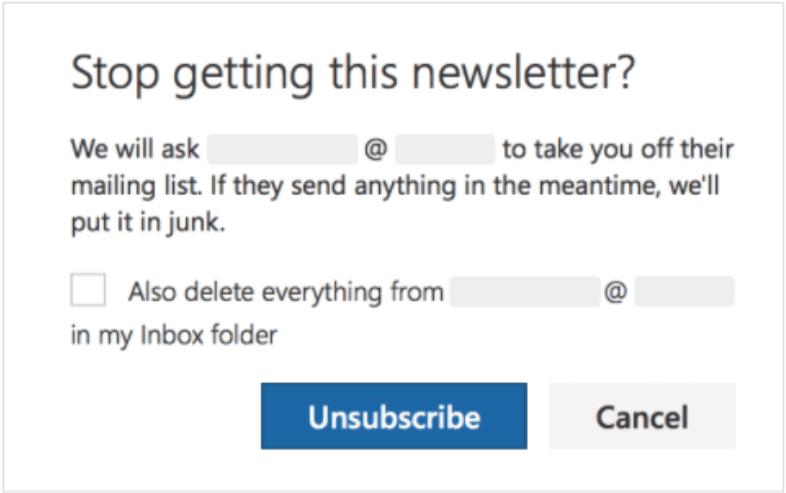 「mailto:」オプションを使用した場合