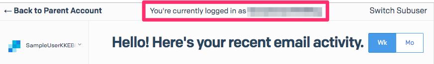 サブユーザの設定を確認/変更