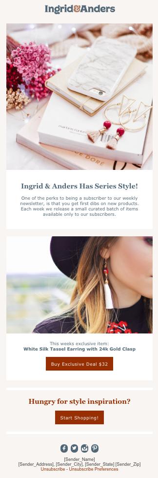 「INGRID & ANDERS - DEAL」のテンプレート