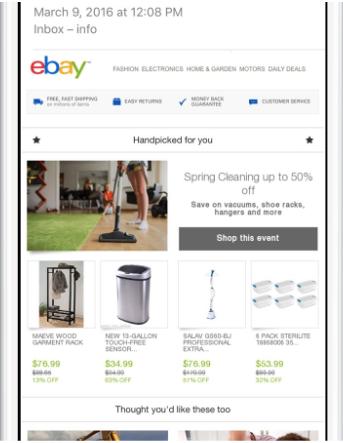 eBayのメール