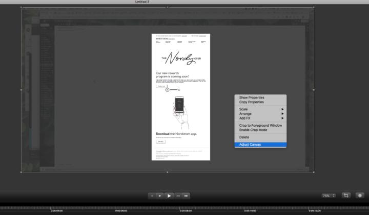 GIFアニメーションにする領域を変更