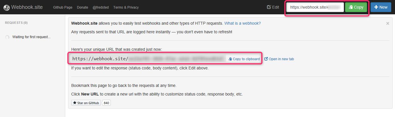 URLをクリップボードにコピー