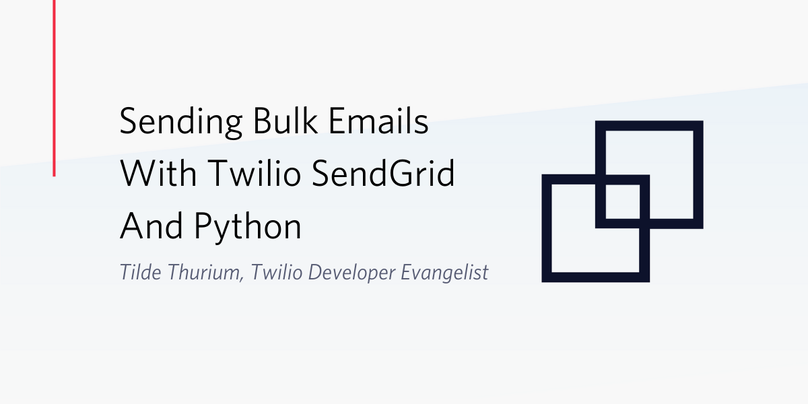 Twilio SendGridとPythonでメールを一斉送信する方法