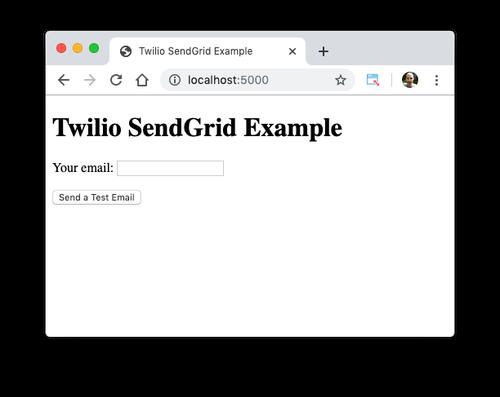 Twilio SendGrid Example