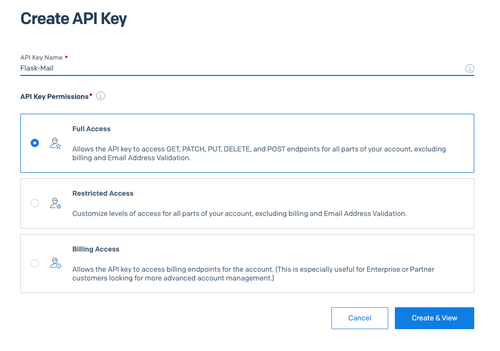 Create API Key