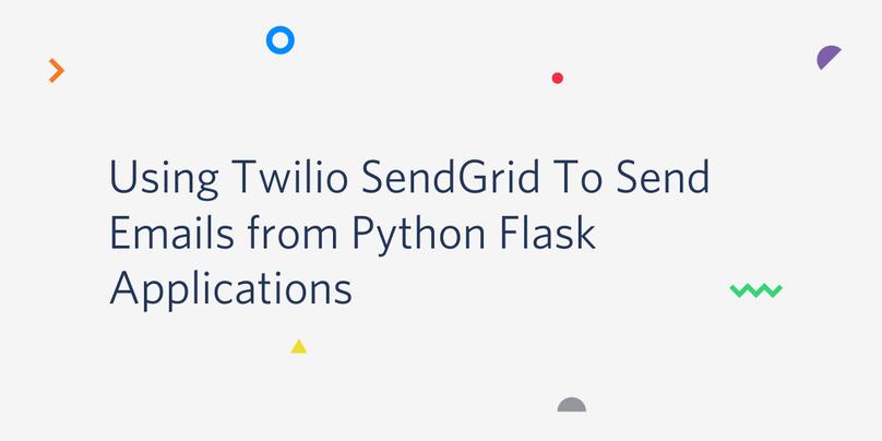 Twilio SendGridを使ってPython Flaskでメールを送る方法