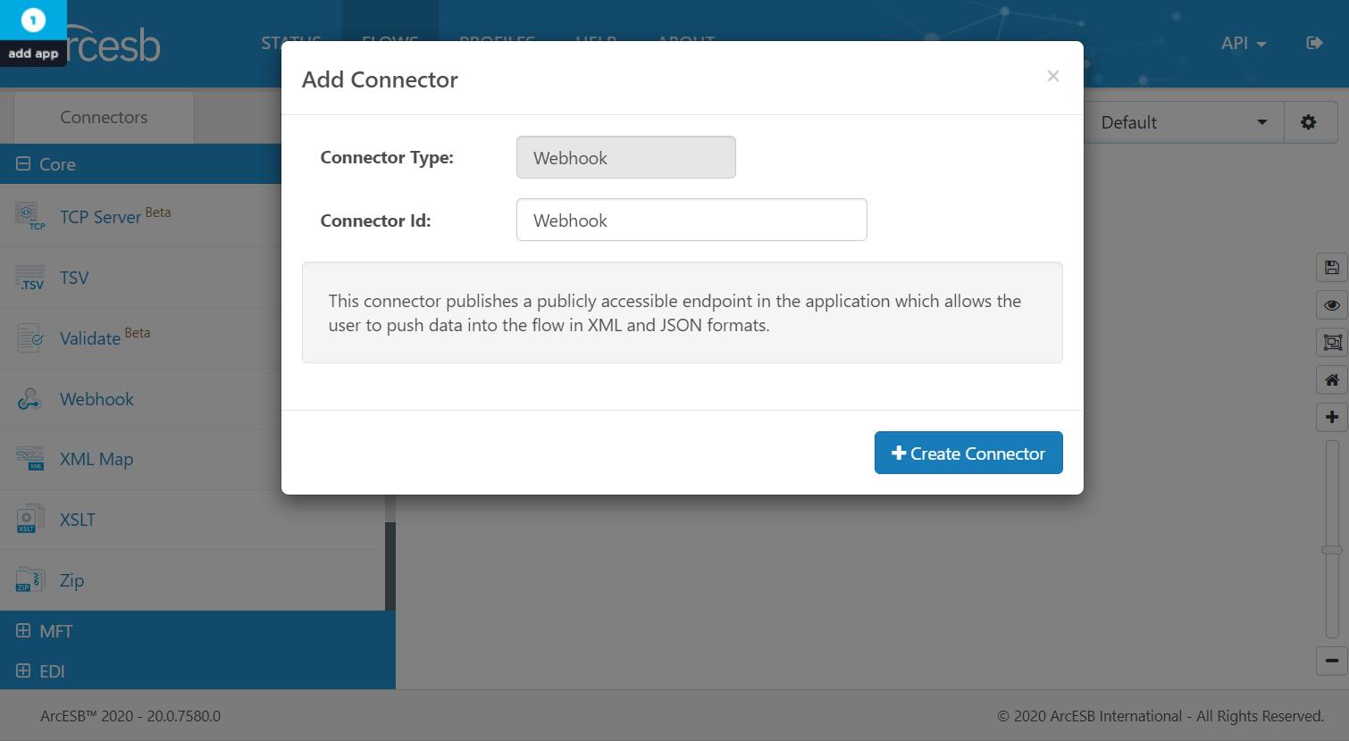 Connector IDの入力