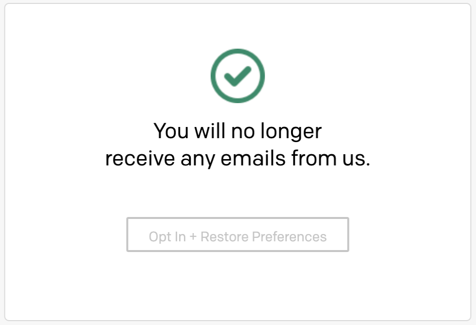 Global Unsubscribe